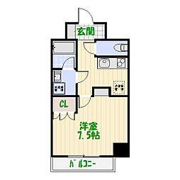 AZEST堀切菖蒲園[2階]の間取り