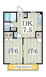 ガーデンヒルズ湖北台[1階]の間取り