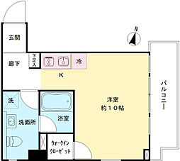 COURT23 3階ワンルームの間取り