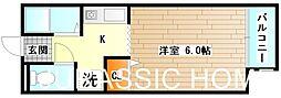 大阪府堺市北区中百舌鳥町4丁の賃貸アパートの間取り