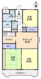 セントラル勝田台[2階]の間取り