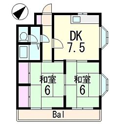 ベルエール草津[3階]の間取り