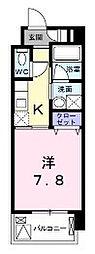 JR横浜線 長津田駅 徒歩5分の賃貸マンション 1階1Kの間取り