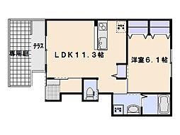 SAKURA壱番館[1階]の間取り