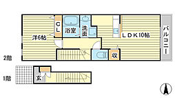 メゾン・エクレール 2[2階]の間取り