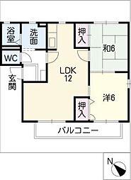 エルマ−ナスD棟[2階]の間取り