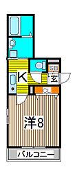 埼玉県さいたま市浦和区常盤5-の賃貸アパートの間取り