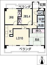 ソレイユ社ヶ丘[1階]の間取り