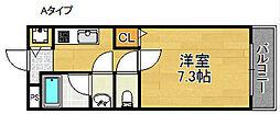シャンテ笠松[1階]の間取り