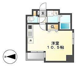 GRANDUKE東別院crea(クレア)[4階]の間取り