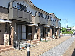 茨城県笠間市下郷の賃貸アパートの外観