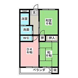 マンション木村[3階]の間取り
