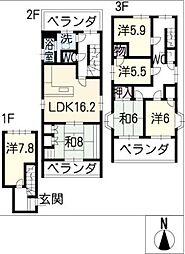 臼井ビル[3階]の間取り