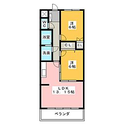CASA・A[1階]の間取り