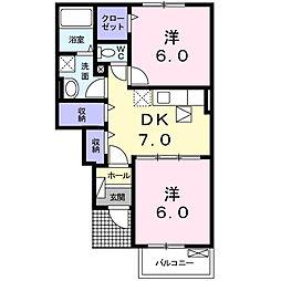 クレスト オユミ[102号室]の間取り