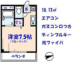 AKマンションII[302号室]の間取り
