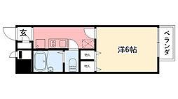 兵庫県西宮市甲子園九番町の賃貸アパートの間取り