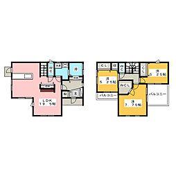 [一戸建] 群馬県前橋市富士見町原之郷 の賃貸【/】の間取り
