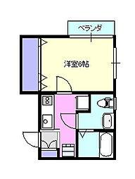 リフレコデラ湘南C103[1階]の間取り