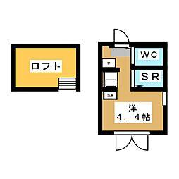 フレシール笹塚A 3階ワンルームの間取り