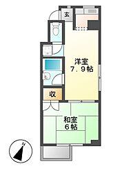 bespoke鶴舞[2階]の間取り