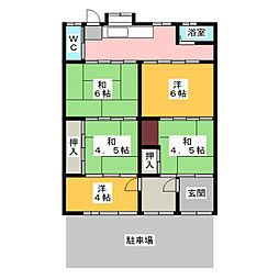 [一戸建] 愛知県一宮市和光2丁目 の賃貸【愛知県 / 一宮市】の間取り