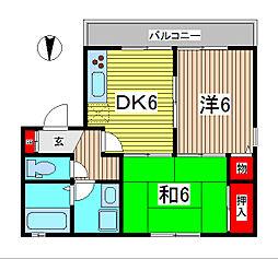 埼玉県さいたま市桜区西堀3丁目の賃貸アパートの間取り