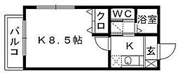 リブレア和白丘B[2階]の間取り