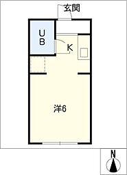 メゾンブランチェ[2階]の間取り