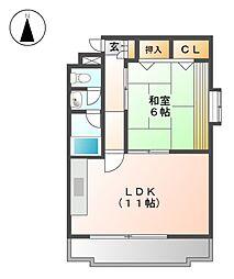 愛知県名古屋市東区出来町3の賃貸マンションの間取り