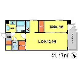 (仮称)プロスパー南吹田 8階1LDKの間取り