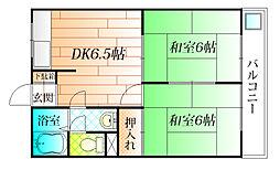 ハイム東麻野[2階]の間取り