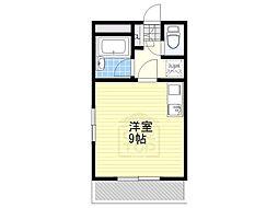 愛知県名古屋市名東区高針2丁目の賃貸マンションの間取り