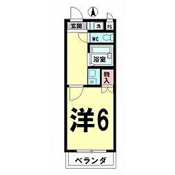 コーポ清水弐番館[205号室]の間取り