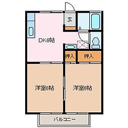 セジュール小野[2階]の間取り