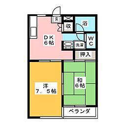シェルコートKI[2階]の間取り