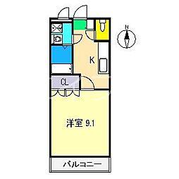 ディアベルジュI[2階]の間取り