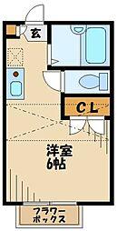 カーサ横浜青葉 1階ワンルームの間取り
