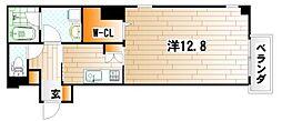 アネシス片野[6階]の間取り