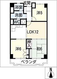覚王山アーバンライフ502号[5階]の間取り