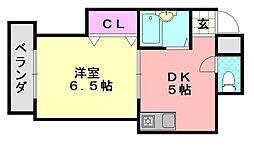 MIZUNOコーポ[402号室]の間取り