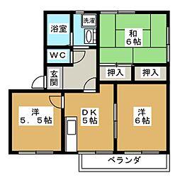 セントラルヴィレッジII B棟[1階]の間取り