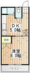 ブルク大澤[103号室]の間取り
