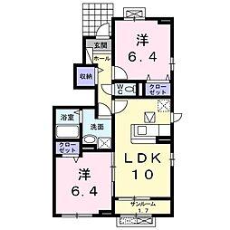 メゾン・ド・リシェスB[1階]の間取り