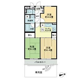 ライオンズマンション市川本八幡[1F号室]の間取り
