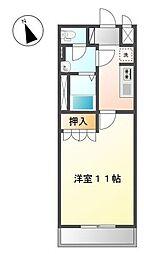 埼玉県鴻巣市鎌塚2丁目の賃貸アパートの間取り