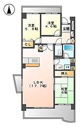 ライオンズマンション成願寺[2階]の間取り