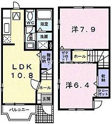 [テラスハウス] 岡山県赤磐市桜が丘東1丁目 の賃貸【/】の間取り