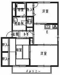 メゾンソレーユ内田I[2階]の間取り