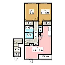 メルキュリーI[2階]の間取り